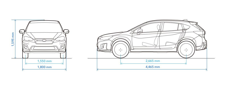 Subaru xv length
